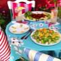 Croquettes, lemonade and a golden beet salad
