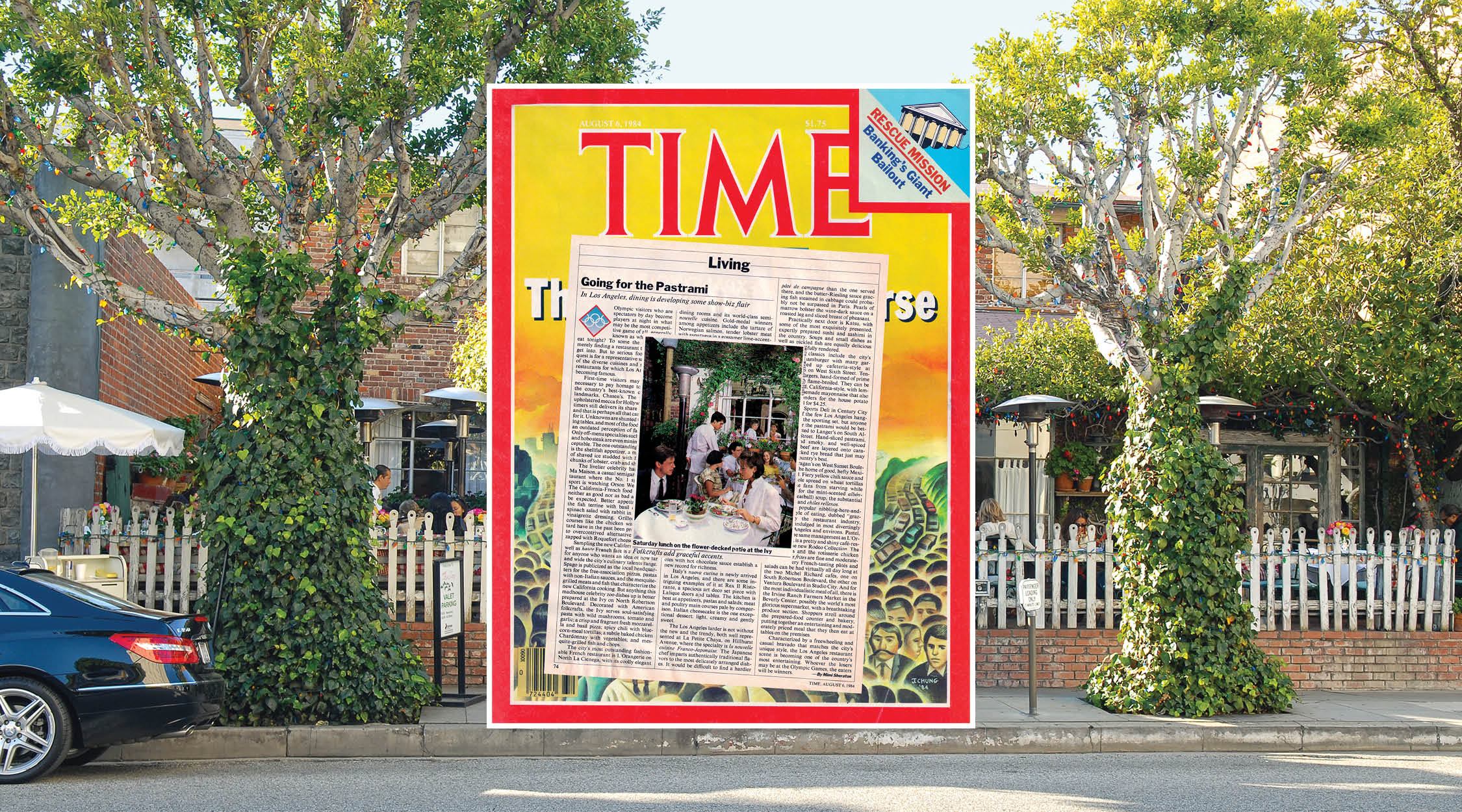 The Time Magazine - This is an article in Time Magazine, regarding the new California Cuisine and written by 